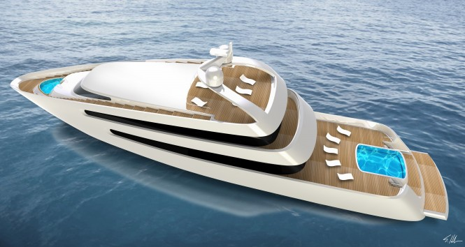 Henderson Luxury Yacht PRIONA - view from above