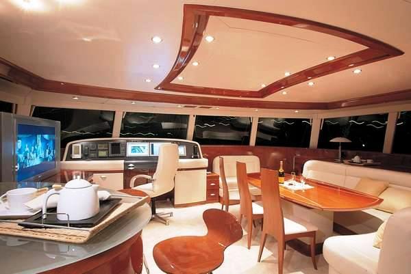 Interior of the spacious Sunreef sailing catamaran Maita'i (ex Che)