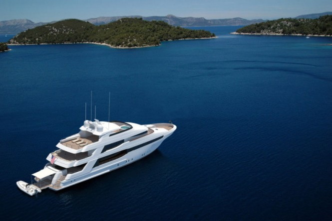 Luxury Yacht Crescent 144 - view from above