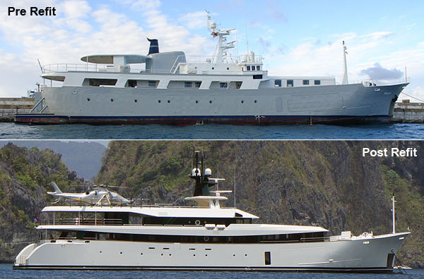 55m motor yacht GALAPAGOS converted by HYS Yachts into ARK