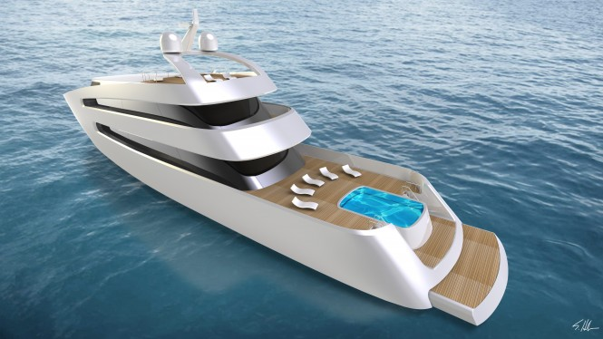 Luxury motor yacht PRIONA - side view