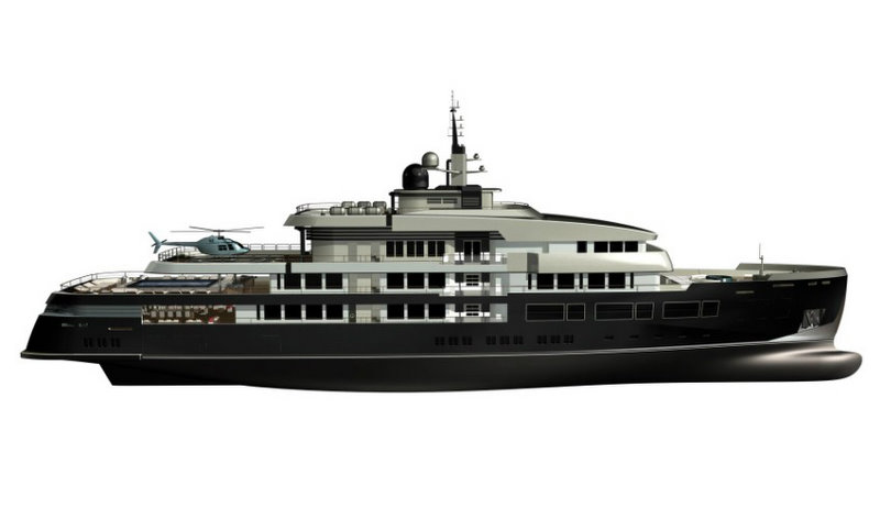 New 75m Motor Yacht NPe75 designed by Gian Paolo Nari