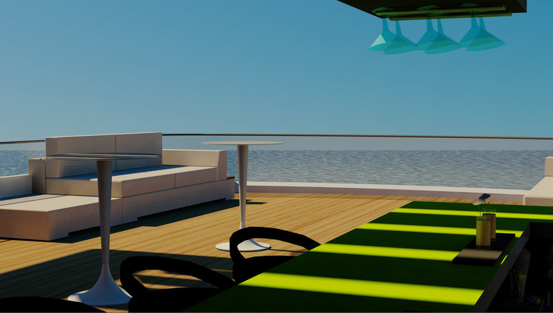 On board super yacht Diana Navitas