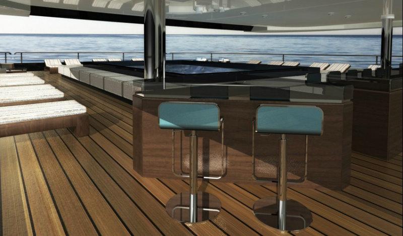On board the luxury yacht NPe75