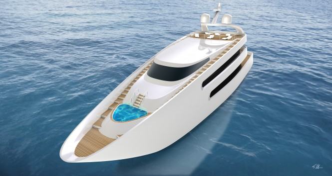 PIONA Superyacht - front view