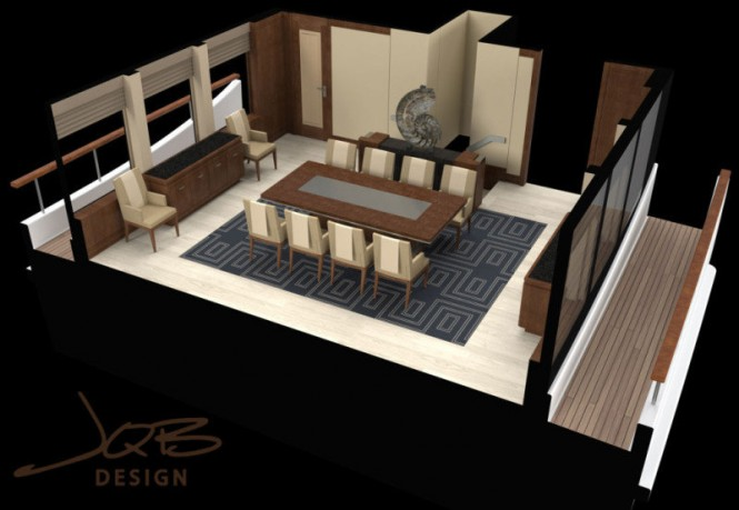 Super Yacht Crescent 144 - Dining Area