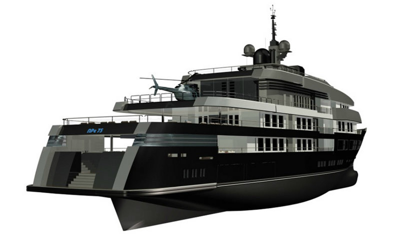 The 75m luxury yacht NPe75 by Gian Paolo Nari
