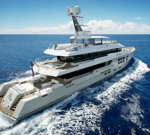 45m Expedition Charter Yacht BIG FISH enroute to the South pacific - available for charter in Tahiti