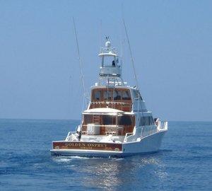 Motor Yacht Golden Osprey winner of the Bradford Marine 'Free Bottom Paint Job' contest