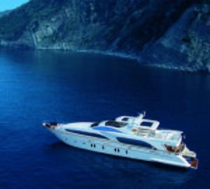 Azimut 35.5m Grande 116 superyacht Cinque presented at Miami International Yacht Show 2012