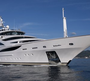 Benetti 61m FB253 luxury yacht Diamonds Are Forever: the largest vessel ever exhibited at Miami Boat Show