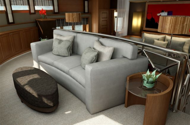 Blind Date superyacht - Master Cabin Seating