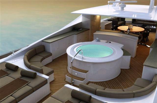 Charter Yacht Blind Date 49m - Sun deck