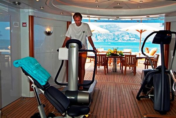 Lurssen built Oasis Yacht - Gym