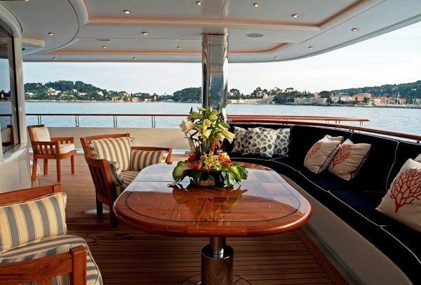 Motor Yacht Oasis - The Aft Deck