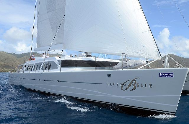 Sir Richard Branson's Necker Belle participates in the 2011 BVI Spring Regatta and Sailing Festival - Credit Todd VanSickle - BVI Spring Regatta& Sailing Festival