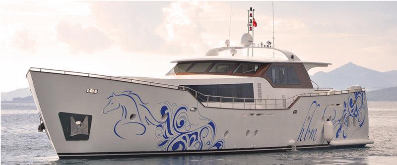 The 31.70m motor yacht AD5 by Agantur Shipyard