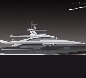 Azimut Yachts starts works on the 42m planing motor yacht Azimut Grande 140