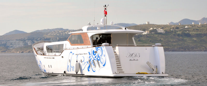 The AD5 Superyacht - rear view