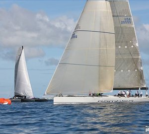 2012 RORC Caribbean 600: The George David's RP90 sailing yacht Rambler out in front
