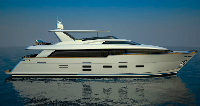 The luxury yacht 93 RPH by Hatteras Yachts