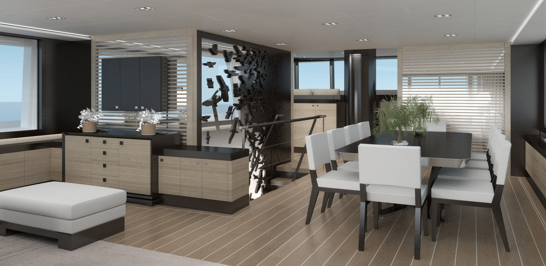 40m Extreme Superyacht Main Salon