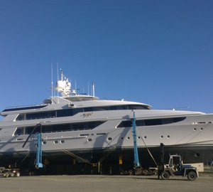 50m Motor Yacht MY GIRL by Westport Hauls Out at Oceania Marine Shipyard