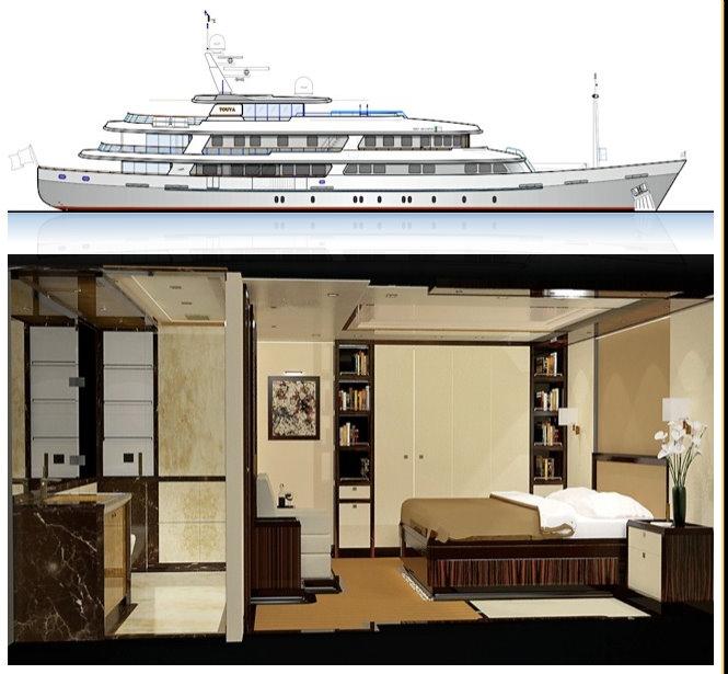 53.55m motor yacht Touya (ex Fils De Grace) under refit at RMK Yachts