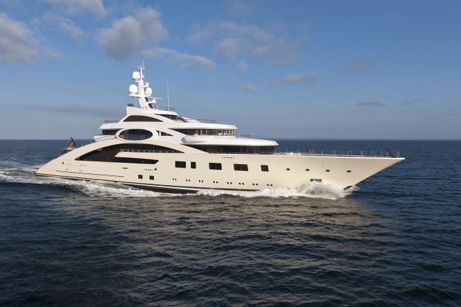 85m luxury motor yacht ACE (ex project Rocky) - Photo by Klaus Jordan