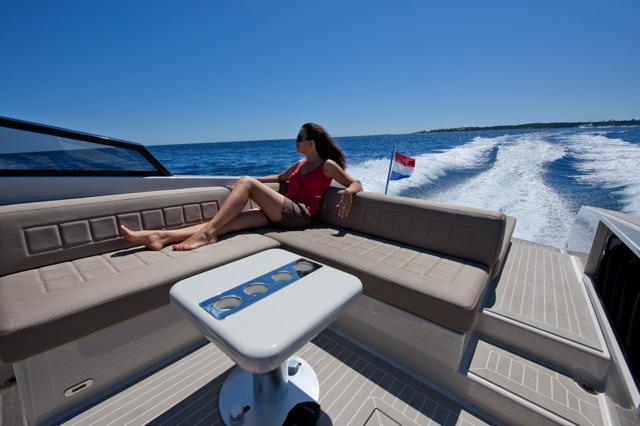 Aboard the yacht VanDutch 30