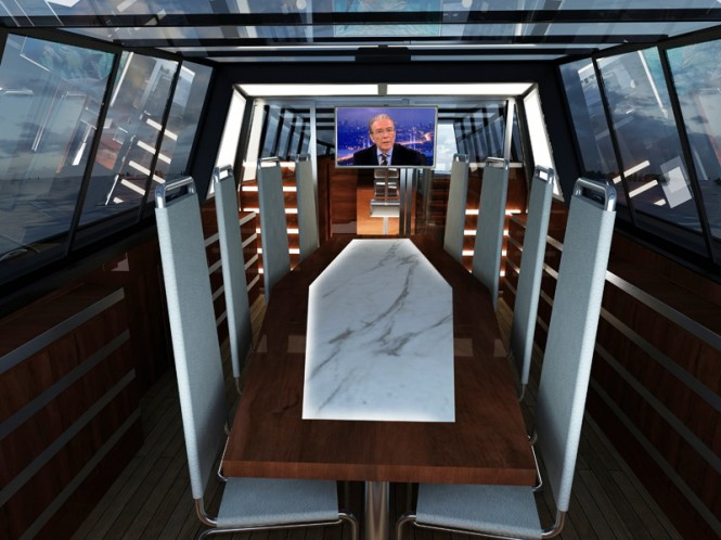 Dining area aboard MEES 37 - created by 2PO Design