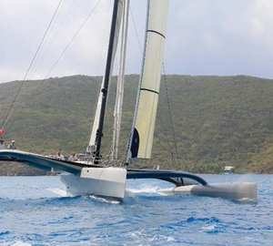 BVI Spring Regatta & Sailing Festival 2012: the Bitter End Cup won by Dufour 405 sailing yacht Team Trolly Car
