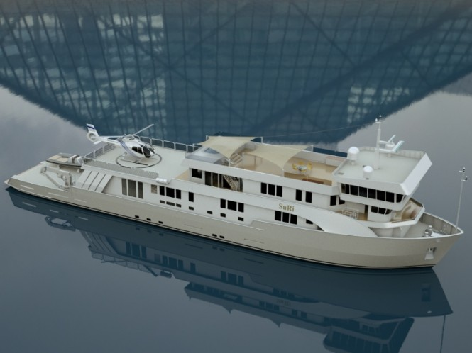 Charter yacht SURI currently under refit