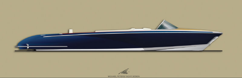 Open Superyacht Tender Profile by Micheal Peters Yacht Design
