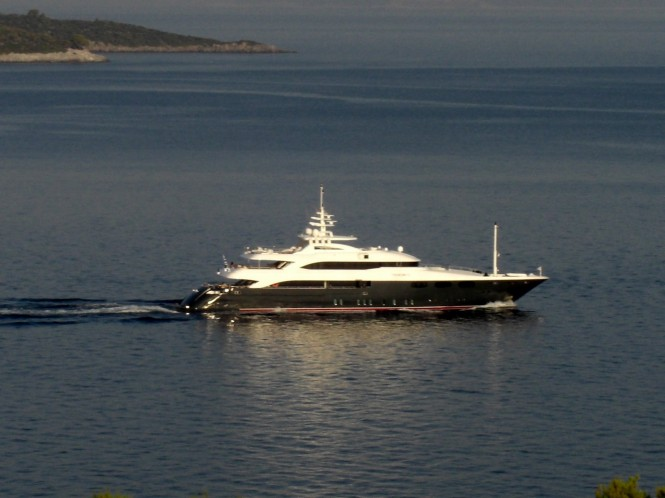 Superyacht O'Neiro cruising around the Greek Islands in 2010 - Photography by Ferdinand Rogge