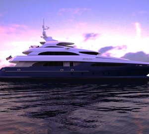 Incat Crowther designed 37.5m motor yacht ZENITH (IC0832) launched