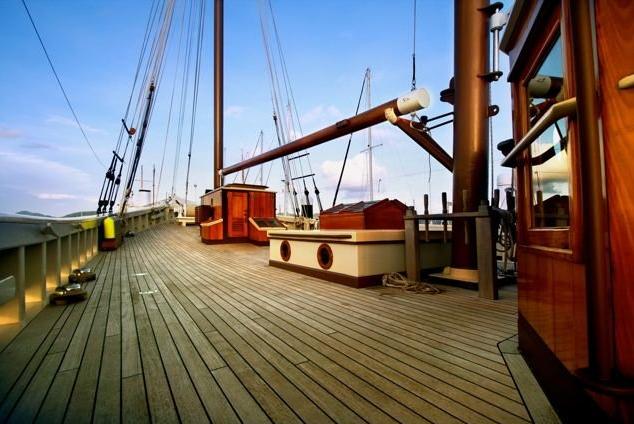 Aboard schooner RAJA LAUT