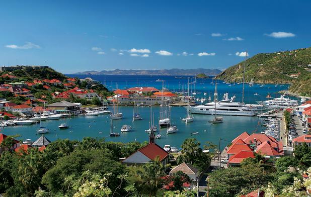Beautiful Caribbean charter yacht location - St. Barths