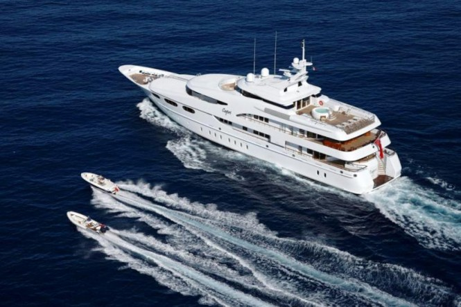 Luxury charter yacht CAPRI with tenders