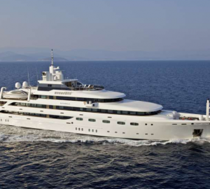 82m Mitsubishi motor yacht O'MEGA for charter during Cannes Film Festival and Monaco Grand Prix