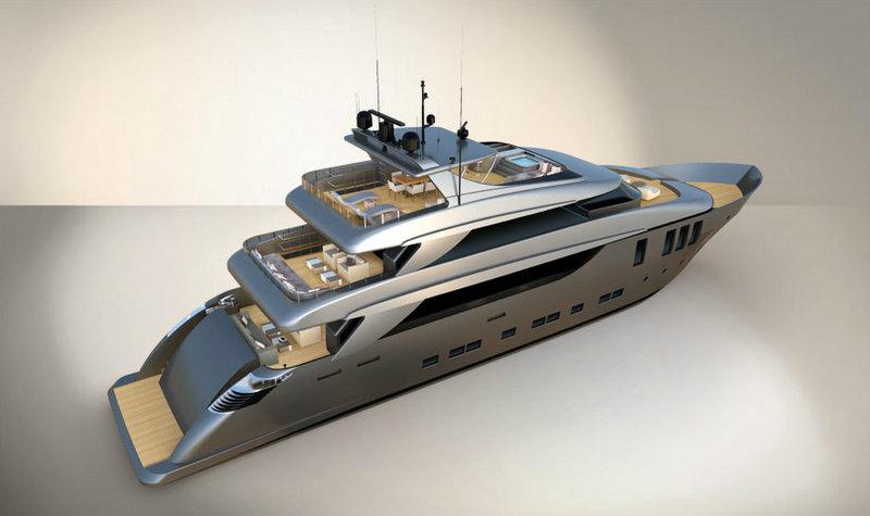 Luxury yacht Nadara 38 - rear view