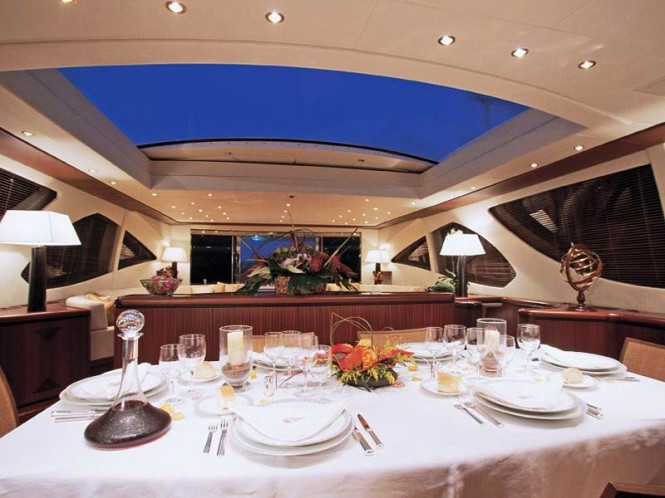 MANGUSTA 130 - same series as the motor yacht ABILITY - Dining