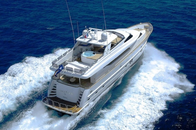 Motor Yacht Annabel II from above
