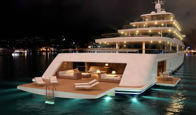 Nauta luxury yacht PROJECT LIGHT by night