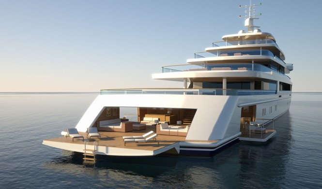 PROJECT LIGHT superyacht - rear view