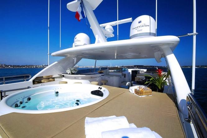 Spa Pool aboard Annabel II charter yacht - Sundeck