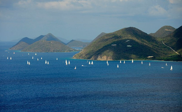 Spectacular scenery on the race course at the BVI Spring Regatta