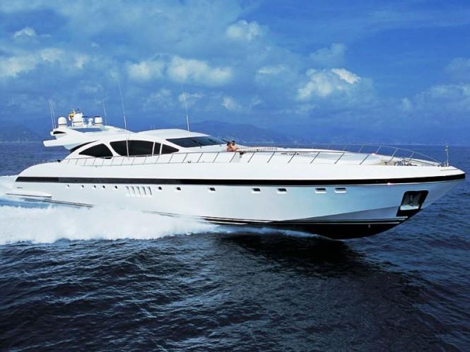 A Mangusta 130 yacht - same series as motor yacht Ability (ex Solomia)