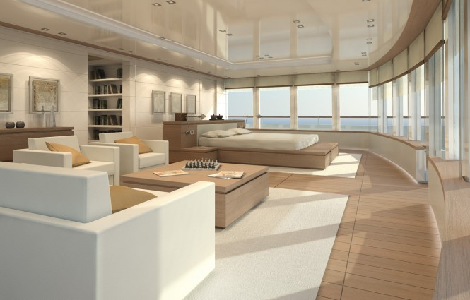 Superyacht PROJECT LIGHT Owner´s Cabin