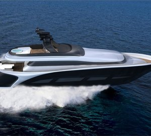 New 28.5m motor yacht Vento 94 concept by Ira Petromanolaki of IP.YD